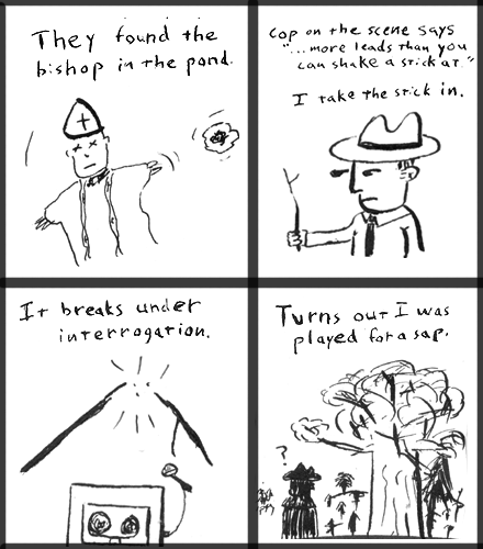 4 panel comic strip